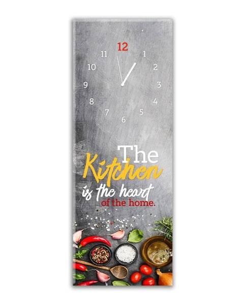 Styler Nástenné hodiny Styler Glassclock Kitchen Heart, 20 × 60 cm
