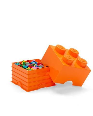 Oranžový úložný box štvorec LEGO®