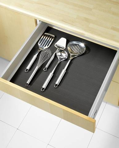 Čierna protišmyková podložka do zásuvky Wenko Anti Slip, 150x50 cm