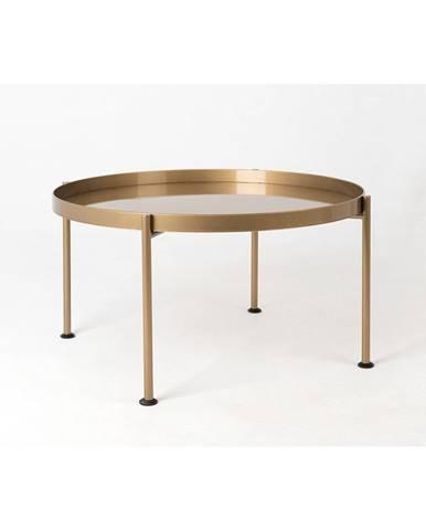 Konferenčný stolík v zlatej farbe Custom Form Hanna, ⌀ 80 cm