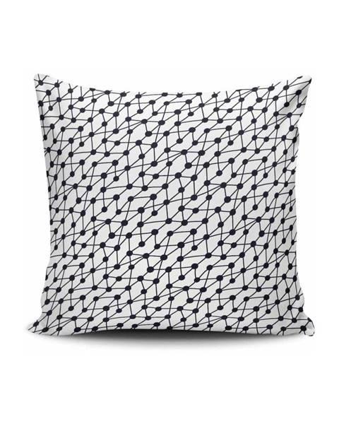 Cushion Love Čierno-biela obliečka na vankúš Calento Ceressio, 45×45 cm