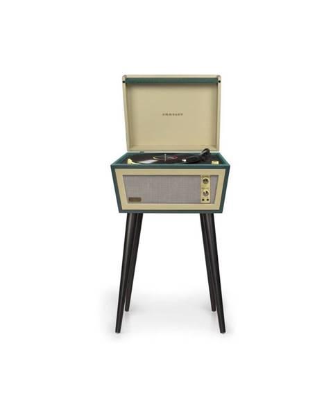 Crosley Zelený gramofón na nohách Crosley Sterling Green