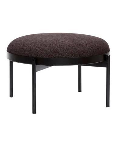 Čierna stolička Hübsch Futuro, ø 65 cm