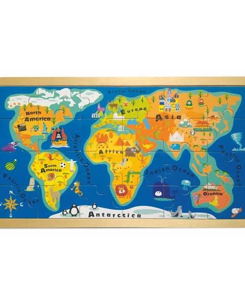 Legler Puzzle v ráme Legler World Map