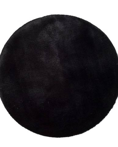 Čierny koberec Universal Fox Liso, Ø 120 cm