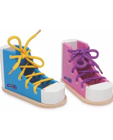 Sada 2 topánok na trénovanie viazania šnúrok Legler Coloured