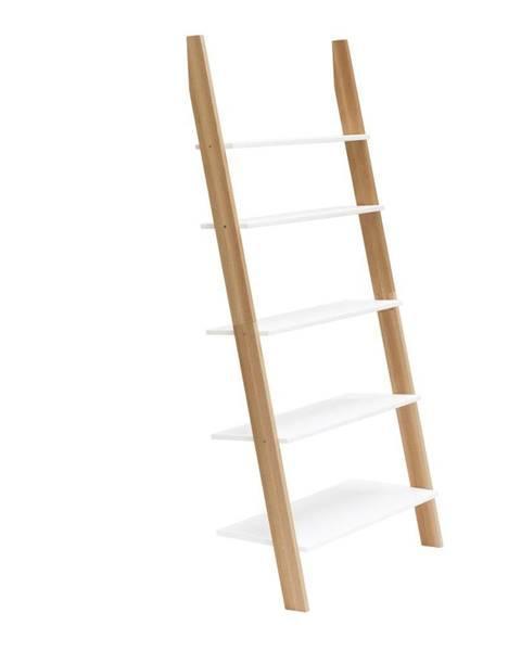 Ragaba Biela rebríková polica Ragaba ASHME, šírka85cm