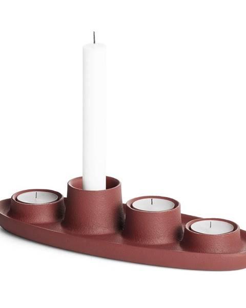 EMKO Svietnik vo vínovočervenej farbe EMKO Aye Aye Four Candles