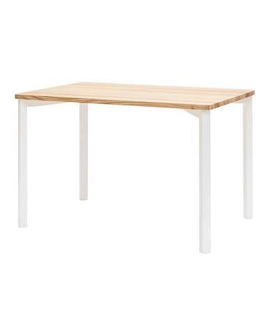 Biely jedálenský stôl so zaoblenými nohami Ragaba TRIVENTI, 120 x 80cm
