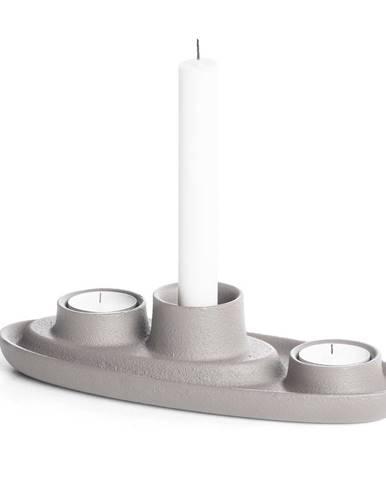Svetlosivý svietnik EMKO Aye Aye Three Candles