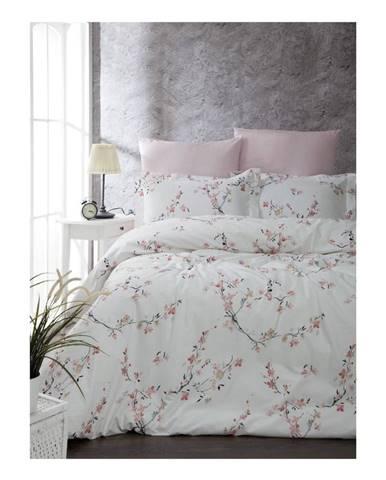Obliečky s plachtou z ranforce bavlny na dvojlôžko Jasmine, 200 x 220 cm
