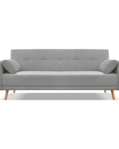 Tmavosivá rozkladacia pohovka Cosmopolitan Design Stuttgart, 212 cm