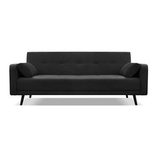 Čierna rozkladacia pohovka Cosmopolitan Design Bristol, 212 cm