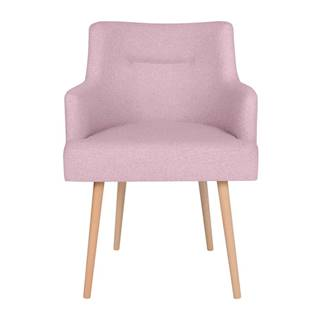 Ružová jedálenská stolička Cosmopolitan Design Venice