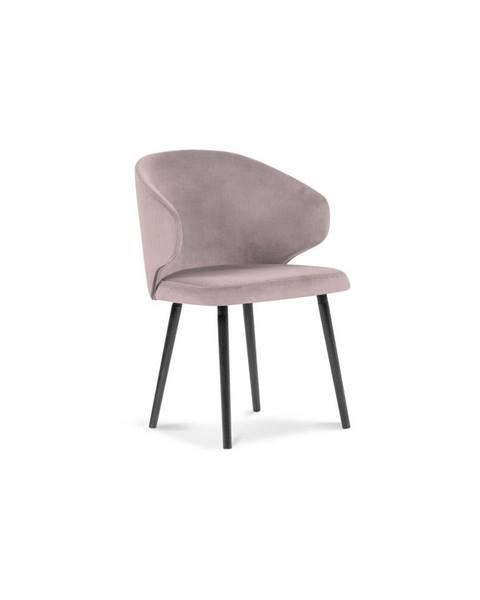 Windsor & Co Sofas Púdrovoružová jedálenská stolička so zamatovým poťahom Windsor & Co Sofas Nemesis