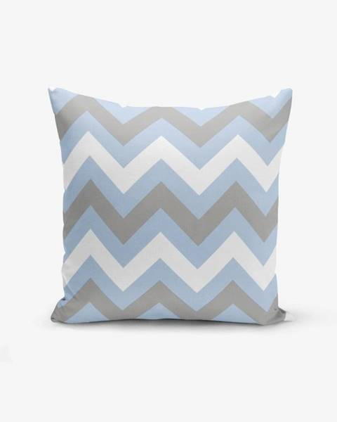 Minimalist Cushion Covers Obliečka na vankúš Minimalist Cushion Covers Zigzag Blue, 45×45 cm
