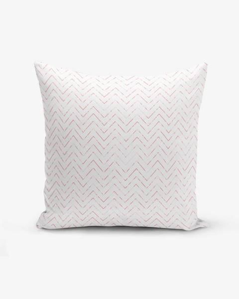 Minimalist Cushion Covers Obliečka na vankúš s prímesou bavlny Minimalist Cushion Covers Fusya Colorful Zigzag Modern, 45×45 cm