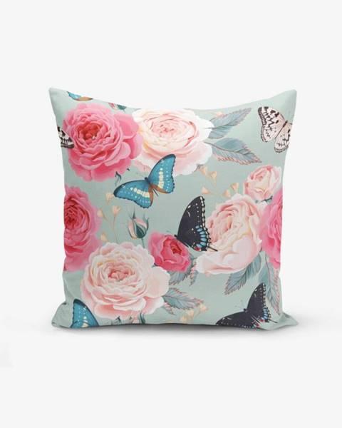 Minimalist Cushion Covers Obliečka na vankúš s prímesou bavlny Minimalist Cushion Covers Lekeli Butterflys, 45×45 cm