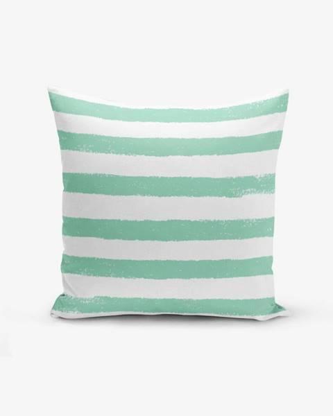 Minimalist Cushion Covers Obliečka na vankúš s prímesou bavlny Minimalist Cushion Covers Su Green Striped Modern, 45×45 cm