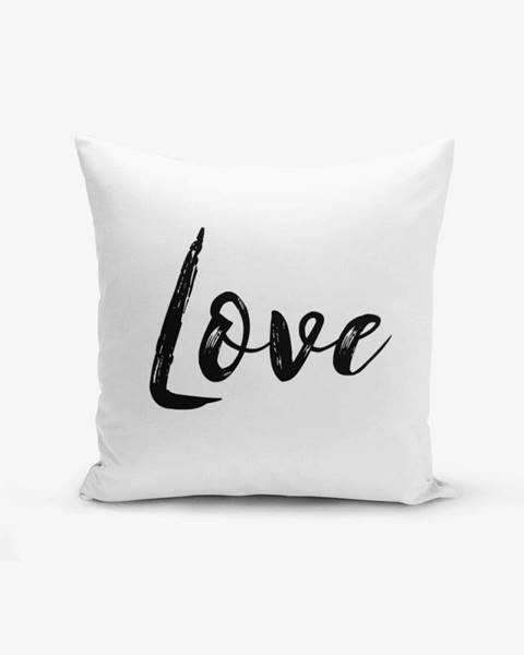 Minimalist Cushion Covers Obliečka na vankúš s prímesou bavlny Minimalist Cushion Covers Love Writing, 45×45 cm