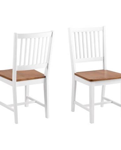 Hnedo-biela jedálenská stolička z kaučukového dreva Actona Brisbane