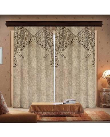 Sada 2 závesov Curtain Lasta, 140×260 cm