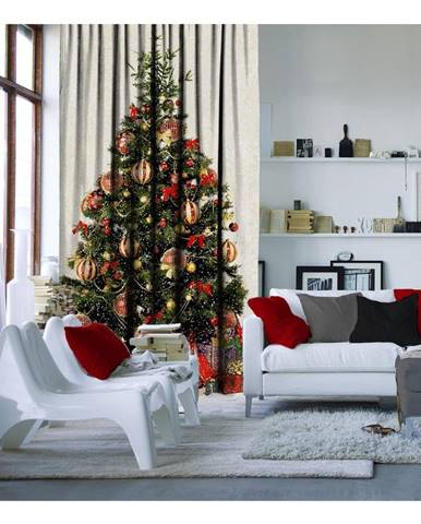 Vianočný záves Christmas Tree, 140 x 260 cm