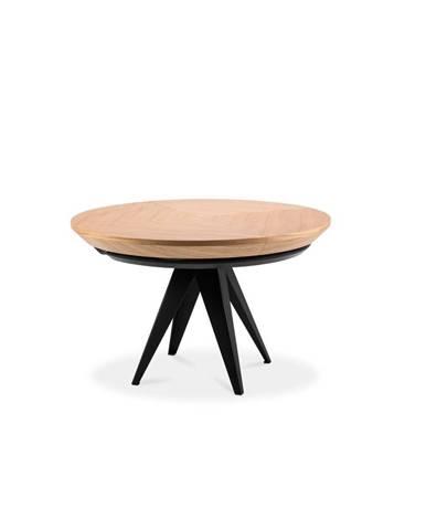 Rozkladací stôl s čiernymi kovovými nohami Windsor & Co Sofas Magnus, ø 120 cm