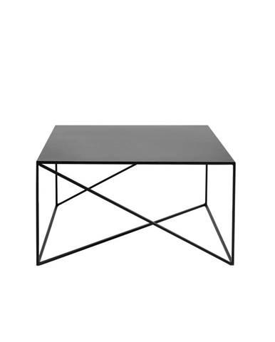 Čierny konferenčný stolík Custom Form Memo, 80 x 80cm