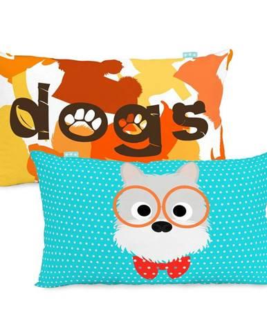 Obojstranná bavlnená obliečka na vankúš Mr. Fox Dogs 50 × 30 cm