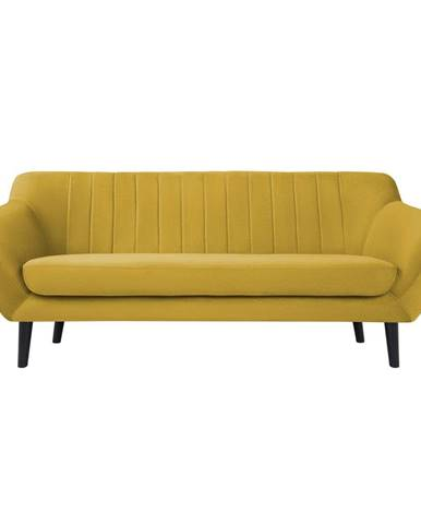 Žltá zamatová pohovka Mazzini Sofas Toscane, 188 cm