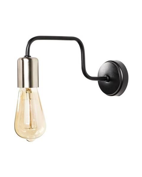 Opviq lights Čierne kovové nástenné svietidlo Opviq lights Agre