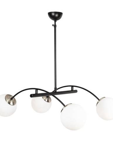 Čierne kovové závesné svietidlo Opviq lights Luke
