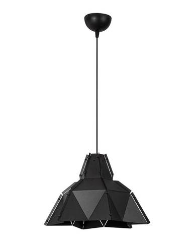 Čierne kovové závesné svietidlo Opviq lights Samantha