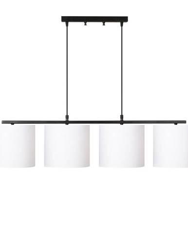 Čierne kovové závesné svietidlo s bielymi tienidlami Opviq lights Jacob