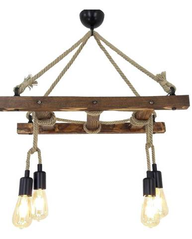 Drevené stropné závesné svietidlo Halat