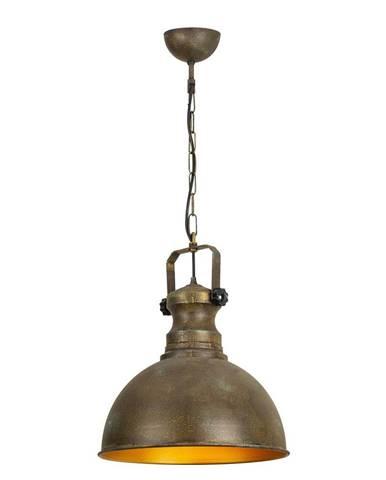 Kovové závesné svietidlo v antickej zlatej farbe Opviq lights Orion