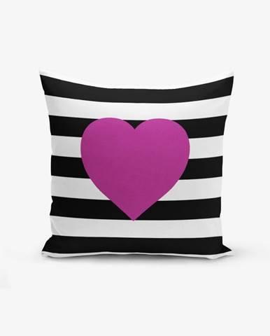 Obliečka na vaknúš s prímesou bavlny Minimalist Cushion Covers Purple, 45×45 cm