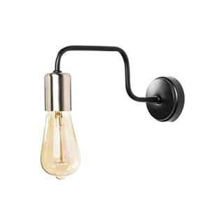 Čierne kovové nástenné svietidlo Opviq lights Agre