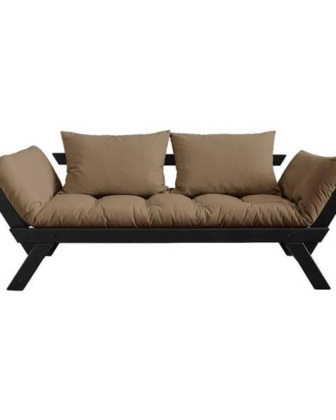 Karup Design Rozkladacia pohovka s hnedým poťahom Karup Design Bebop Black/Mocca