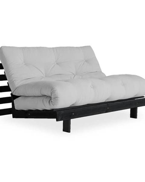 Karup Design Rozkladacia pohovka so svetlosivým poťahom Karup Design Roots Black/Light Grey