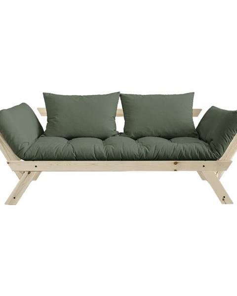 Karup Design Rozkladacia pohovka so zeleným poťahom Karup Design Bebop Natural/Olive Green