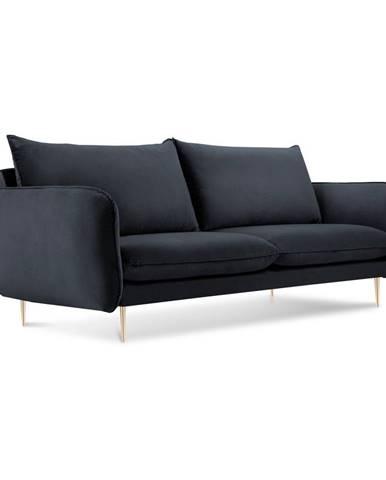 Antracitovosivá zamatová pohovka Cosmopolitan Design Florence,160 cm