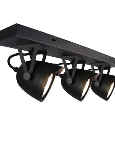 Čierne nástenné svietidlo LABEL51 Spot Moto Cap Tres