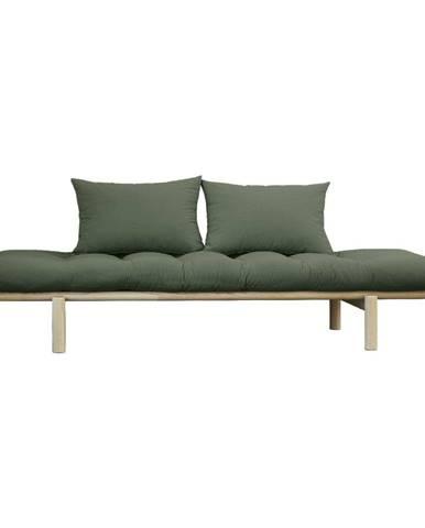 Pohovka so zeleným poťahom Karup Design Pace Natural/Olive Green
