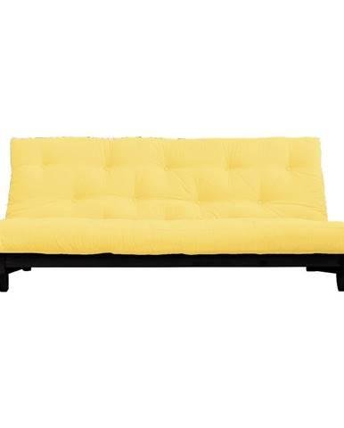 Rozkladacia pohovka so svetložltým poťahom Karup Design Fresh Black/Yellow