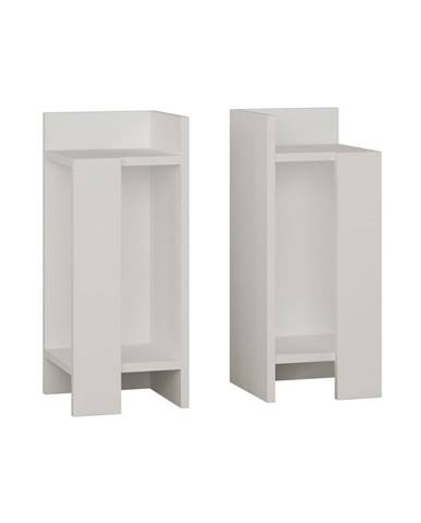 Sada 2 bielých nočných stolíkov Elos