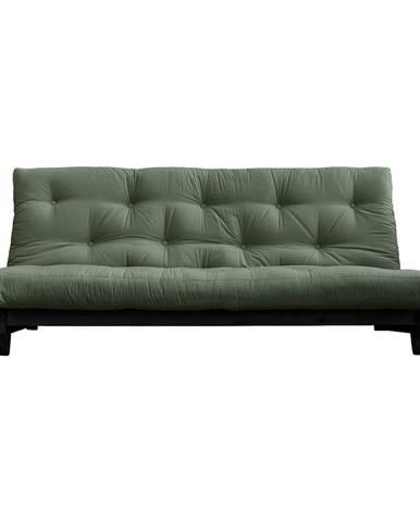 Variabilná pohovka Karup Design Fresh Black/Olive Green