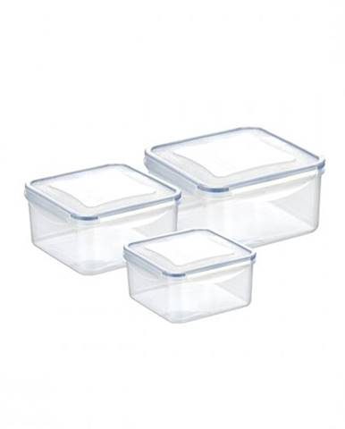 Tescoma 3-dielna sada dóz FRESHBOX, 0,4/0,7/1,2 l, štvorcová