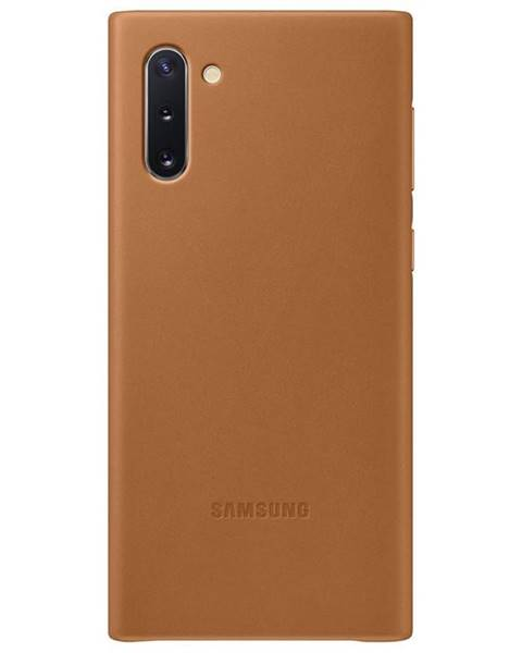 Samsung Kryt na mobil Samsung Leather Cover na Galaxy Note10 hnedý